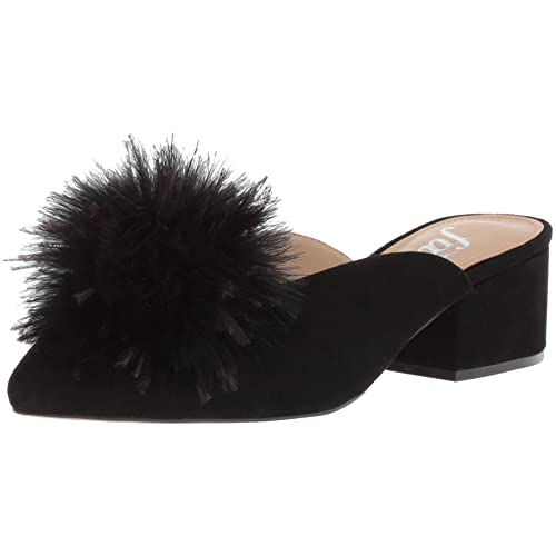 1ae73e3e75bb The Fix Women s Roxana Block Heel Mule with Feather Pom
