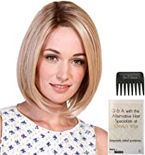Bundle - 3 items: Lady Latte Wig by Belle Tress, Christy's Wigs Q & A Booklet & Wide Tooth Comb - Color: Bombshell Blonde