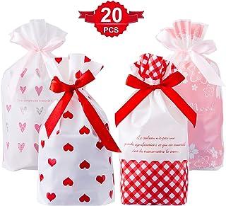 Vommpe 100 Pcs Sachet Plastique Bonbon Transparent Bonbons Pochettes Christmas Snack No/ël pour Mariage Boulangerie Cookie 10x15cm