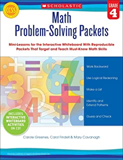 Math Problem-Solving Packets: Grade 4: Mini-Lessons for the Interactive Whiteboard With Reproducible Packets That Target a...