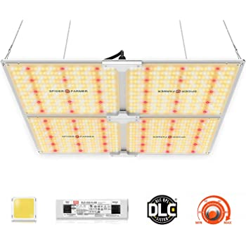 SPIDER FARMER SF-4000 LED Grow Light 5'x5' Flower Compatible with Samsung LM301B Diodes Dimmable Commercial Grow Lights for Indoor Plants Full Spectrum 3000K 5000K 660nm 760nm IR 1212pcs LEDs