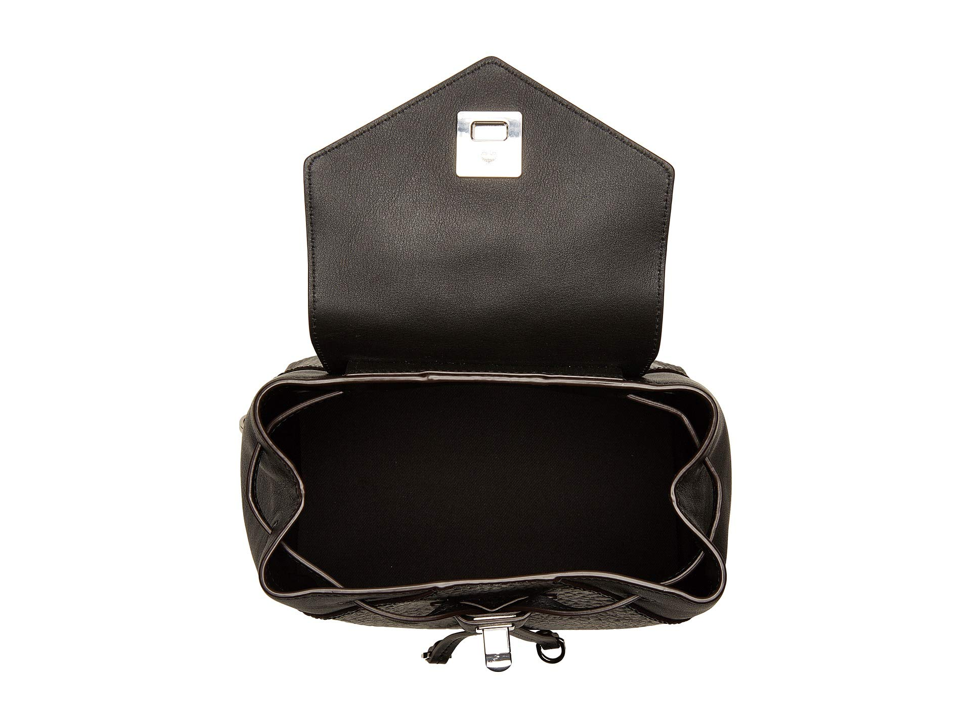 Black Small Visetos Backpack Original Mcm Essential fwvqHRX