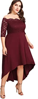 Best burgundy dress plus Reviews