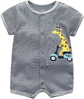 Bébé Pyjama Garçons Grenouillères Manches Courtes Jumpsuit Coton Body Été Tenues 9-12 Mois