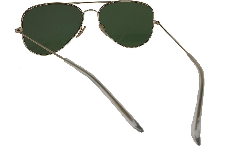Classic Unisex Aviator Sunglasses Metal Frame and Glass UV 400 Predection Lens
