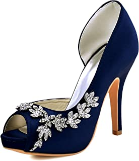 003d4becbbc Amazon.com: navy blue wedding shoes - Women: Clothing, Shoes & Jewelry