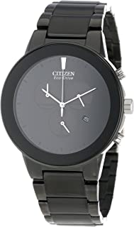 """Citizen Men's AT2245-57E Eco-Drive""""Axiom"""" Black Stainless Steel Watch"""