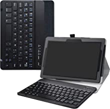 LiuShan Lenovo Tab E10 Wireless Keyboard Case, Detachable Wireless Keyboard Standing PU Leather Cover for 10.1