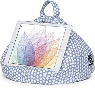 iPad Pillow & Tablet Stand - Securely Holds Any Size Tablet, eReader or Book Upto 12.9 inches, Hands Free Comfort at Any Angle on Any Surface - Spotty, by iBeani