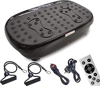 WeightWorld Plataforma Vibratoria 3D para Adelgazar y Relajar Músculos - Máquina de Ejercicio, Entrenamiento en Casa, Mejora Circulación, Altavoces Bluetooth, Bandas de Resistencia, 99 Niveles
