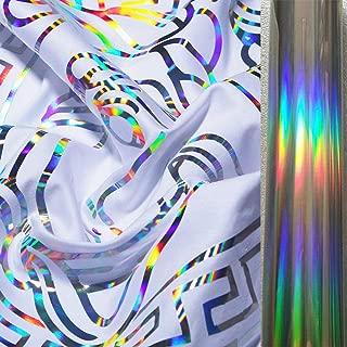 Moyishi Holographic Heat Transfer Vinyl Bundle HTV Spectrum Silver Rainbow Color for T-Shirt Clothing 1 Meter (Rainbow)