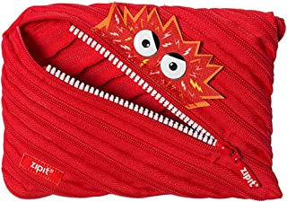 ZIPIT Talking Monstar Big Pencil Case, Red