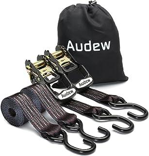 Audew 2-pak zestaw mocnych grzechotki do krawatów 35 mm x 2,4 m, krawaty ciężarówek, paski mocujące do motocykli do artyku...