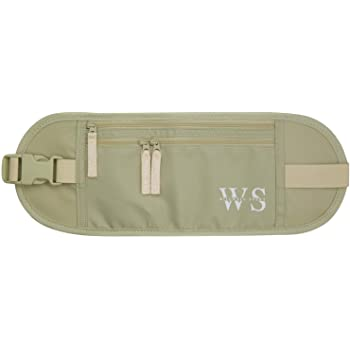 WILLWELL SPORT Money belt – RFID Blocking Waterproof Travel Pouch – Hidden Anti-theft Festival Bumbag – Flat Passport pouch - Beige