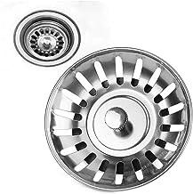 MeiZi 1pc gootsteen vloerafvoer rvs keuken gootsteen filter mesh duurzaam rubber verzegelde wastafel badkamer haarfilter r...