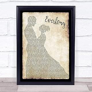 Everlong Song Lyric Man Lady Dancing Quote Print