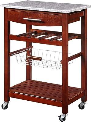 Amazon.com: rentongye - Perchero de cocina con estante de ...