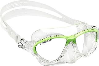 Cressi Kids Moon, Gafas de Snorkel Buceo para Niños, Verde, 7-15 Años
