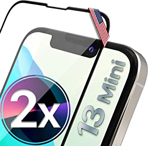 UTECTION 2X Full Screen Glass Protector for iPhone 13 Mini (5.4