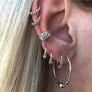 Elistelle King.MI - Set di orecchini in stile boho, con zirconi, ipoallergenici