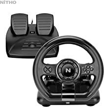 NiTHO Drive Pro V20 Racing Wheel & Pedal Set for Nintendo Switch and PS4