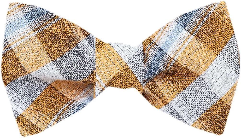 FBTZ-1274 - Men's Silk Self Tie Bowtie Tie Yourself Bow Ties