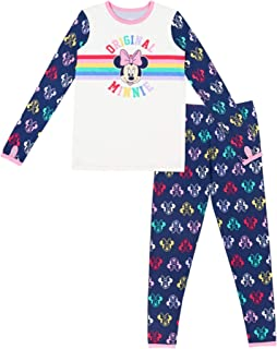 Cuddl Duds Climate Right Disney Girls Minnie Mouse Thermal Base Layer XS (4-5) Blue