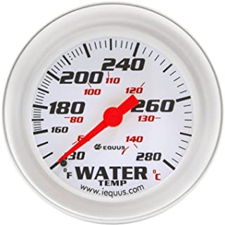 "Equus 8442 2-5 / 8 ""سنج دمای مکانیکی آب ، سفید با حاشیه آلومینیوم"