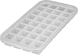 Levivo Molde de silicona para 32 cubitos de hielo, antiadherente, semitransparente, molde de silicona para cubitos de hielo, molde de silicona para hielo, cubitera de silicona, aprox. 27 x 14 x 2,9 cm