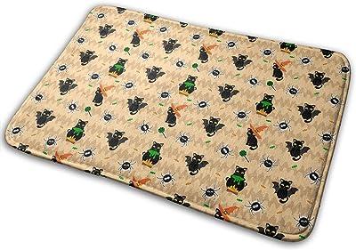 Cartoon Cats Spider Candies Carpet Non-Slip Welcome Front Doormat Entryway Carpet Washable Outdoor Indoor Mat Room Rug 15.7 X 23.6 inch