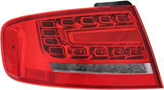 Tail Light Compatible with AUDI A4 2009-2012/S4 2010-2012 LH Outer Assembly LED Type Sedan B8