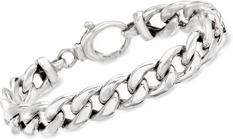 ●スーパーSALE● セール期間限定 2020A W新作送料無料 Ross-Simons Sterling Silver Curb-Link Bracelet