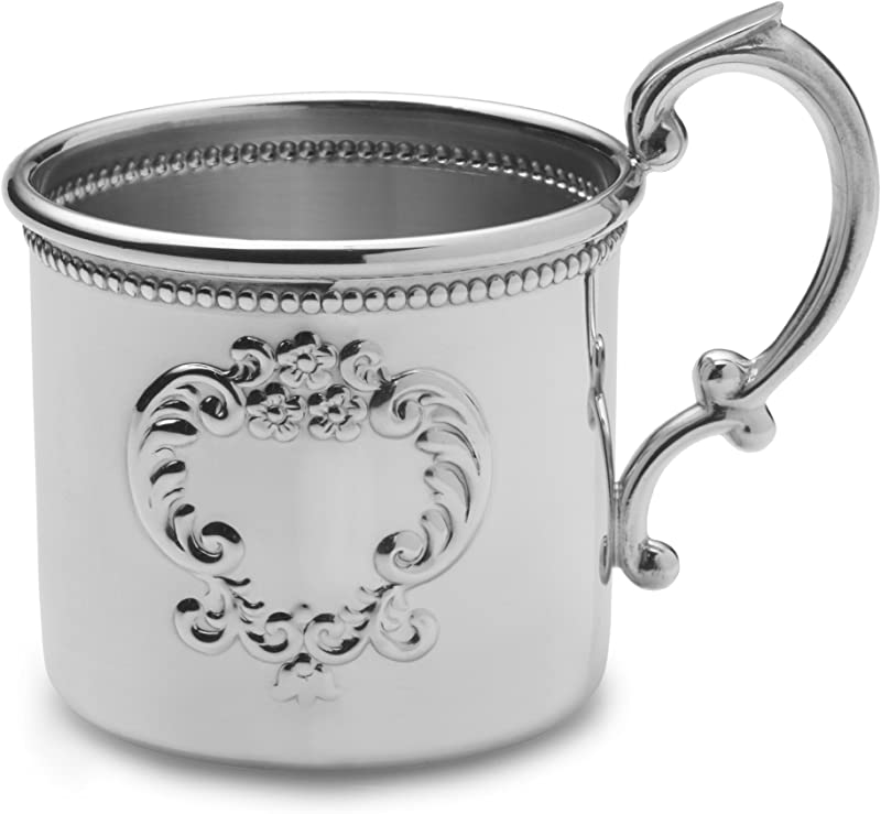 EMPIRE Raised Design Beaded Pewter Baby Cup