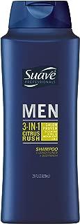 Suave Men 3 in 1 Shampoo Conditioner Body Wash, Citrus Rush, 28 oz, 2 count