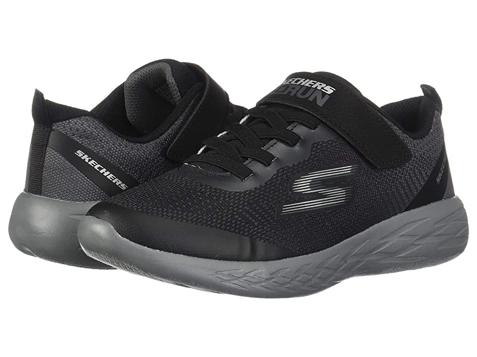 SKECHERS KIDS Go Run 600 (Little Kid/Big Kid) (Black/Charcoal 2) Boy