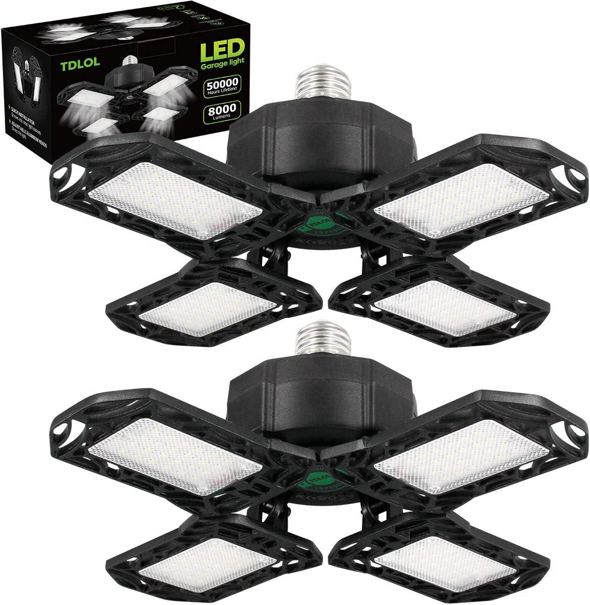 TDLOL 81W 8000LM 2-Pack LED Garage Lights  $13.99 Coupon