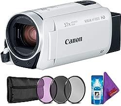 Canon VIXIA HF R800 Camcorder (White) + Creative Filter Kit