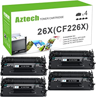 Aztech Compatible Toner Cartridge Replacement for HP 26X CF226X 26A CF226A (Black 4 Packs)