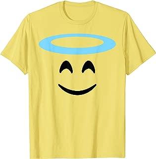 Angel Halo Smiling Face Emojis Emoticon Halloween Costume T-Shirt