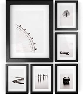 ARTEZA Picture Frames – Display 6 x 8 Pictures w/o Mat or 4