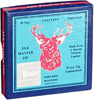 Tweeten Elk Master Soft Leather Billiard/Pool Cue Tips, Box of 50 (12 mm, 13 mm and 14 mm)