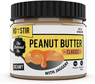 The Butternut Co. No stir Peanut Butter Classic with Jaggery (No Added Sugar, Vegan, High Protein, Keto) (Creamy, 340gm)