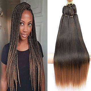 Braiding Hair Befunny Pre Stretched Braiding Hair Ombre Prestretched Synthetic Braiding Hair 8 Packs Crochet Braids Hair T...