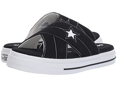 Converse One Star Sandal Slip (Black/Egret/White) Women