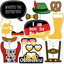 Big Dot of Happiness Oktoberfest - German Beer Festival Photo Booth Props Kit - 20 Count