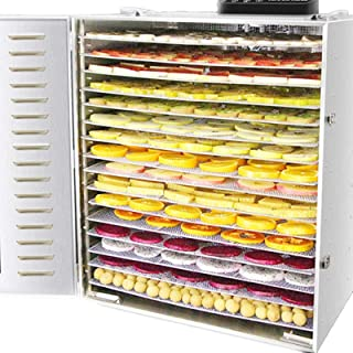 Food Fruit Dehydrator Machine, 16 Tray Food Dryer Dehydrator, Temperature Adjustable, for Fruit Veg Fish Beef,Commercial F...