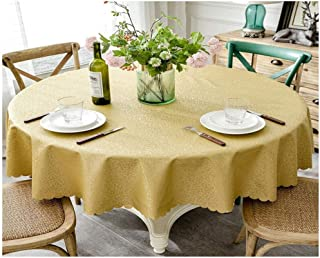 SHENGSHIHUIZHONG Tablecloths, Round Tablecloths, Suitable for Family Dining Tables, Festive Dinners. Home Supplie. Size: 72 Inches in Diameter, 80 Inches in Diameter. Color: Coffee, Golden.