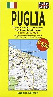 Cartina Autostradale Della Puglia.Amazon It Cartina Della Puglia