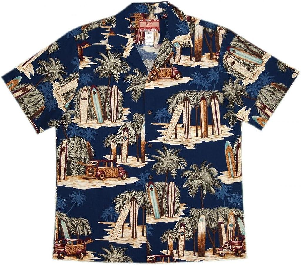RJC Men's North Shore Summer Hawaiian Shirt