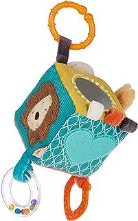 Fehn 066029 Activity-Würfel Funky Friends – Motorikspielzeug zum Aufhängen – Für Babys und Kleinkinder ab 0 Monaten – Maße: 10 x 10 cm